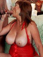 Lynn Belmont - Blowjob, Cumshot, Mature