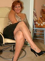 Pantyhose Wife Dawn Marie Wears Em' and Rips Em' So You Can Have Her Pussy!