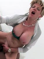Trophy wife sucks a big black cock