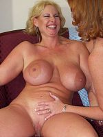 Big Tit Moms Play Together