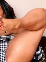 Danica Collins treat for bare foot lovers
