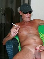 Smoking GRANNY gets a Cigarette and a BIG COCK