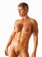 Muscled mature goddess Heather