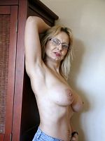 British MILF with huge breasts