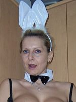 Its Easter and entertaining at home in my Bunny Outfit but how did that carrot get there