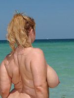 bbw beach big tits blonde outdoors Samantha 38G wet