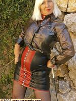 ass big tits blonde european Sandy's Secrets stockings