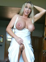 Super hot blonde busty wifey MILF