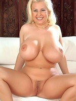 Huge boob Julia Miles spreads